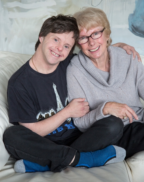Tim Fairhall with mother Joan