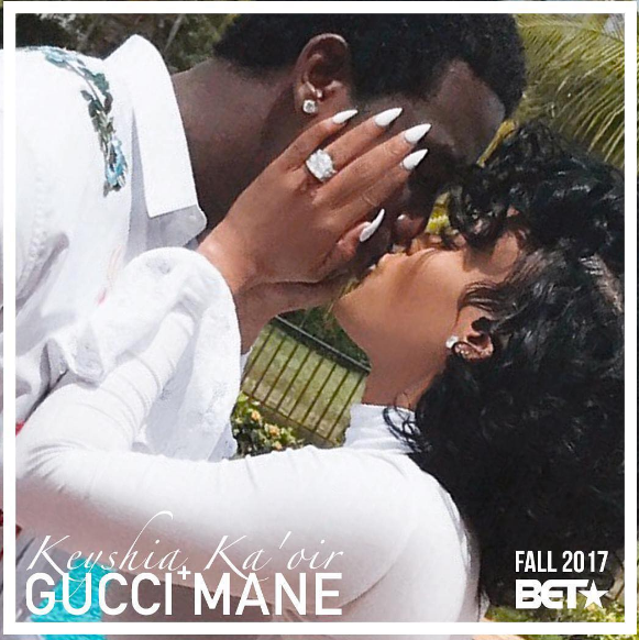 ____ - Keyshia Ka'oir took to Instagram the good news of her and Gucci Mane joining the BET family. The newlyweds will be sharing their big day with fans. Sources say that the wedding will be the most extravagant celebrity wedding of all time. The special is expected to air on 10/17/17.