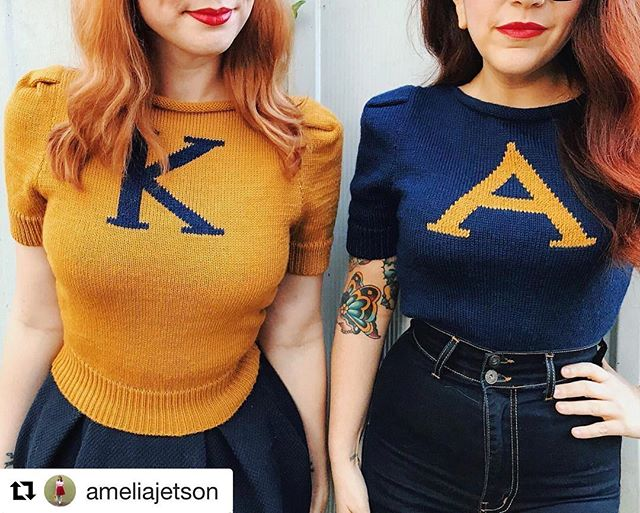 Found some sweaters for our leading ladies. Thanks @lucasspivey for this! #karlyandalex