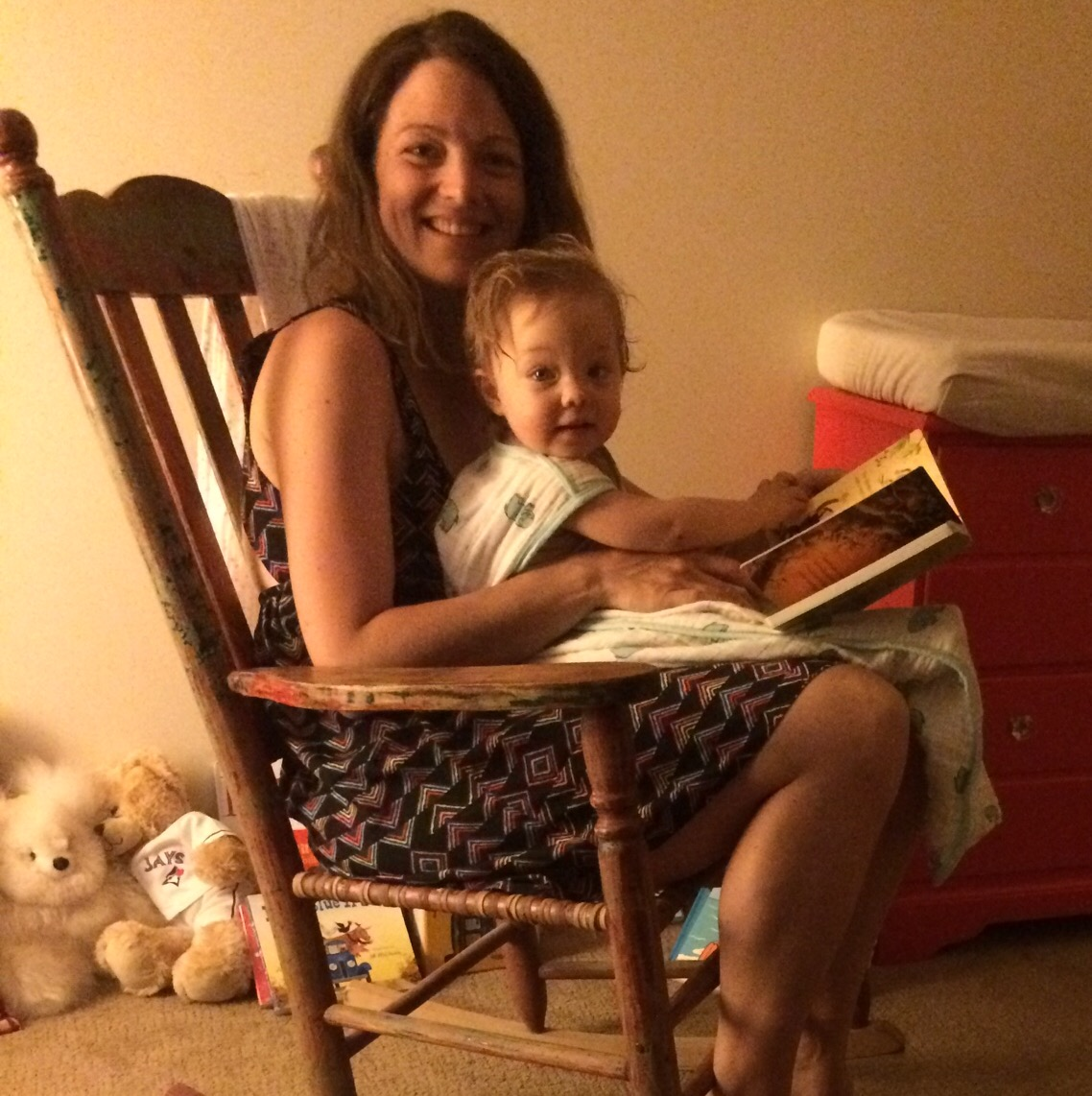 From about 6 months to 18 months, Ella loved to simply relax with a book before bed. Over the year, Ella went from eating book corners to pointing out and naming her favorite images. Books are still a BIG part of routines, but...