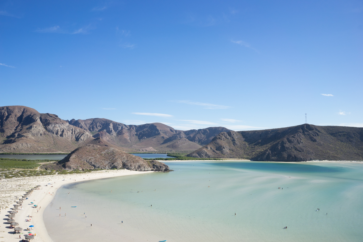 My favorite beach that we visited in Baja, Bolandra Beach.