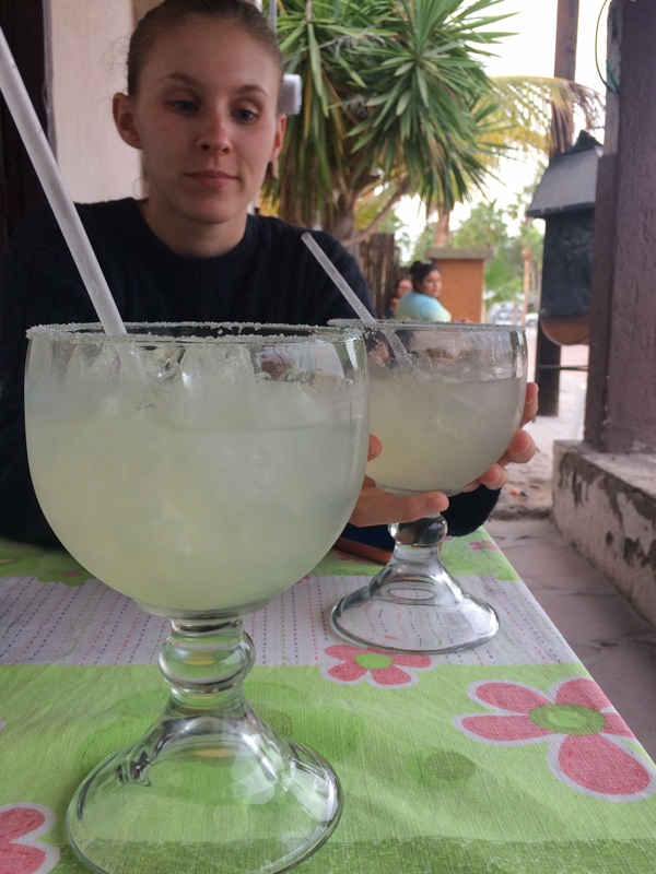 We did manage to find margaritas that were 2 for 70 pesos ($3.50 USD)