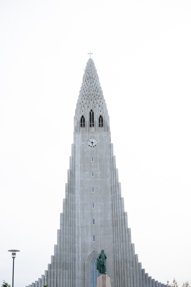 The famous Hallgrímskirkja church