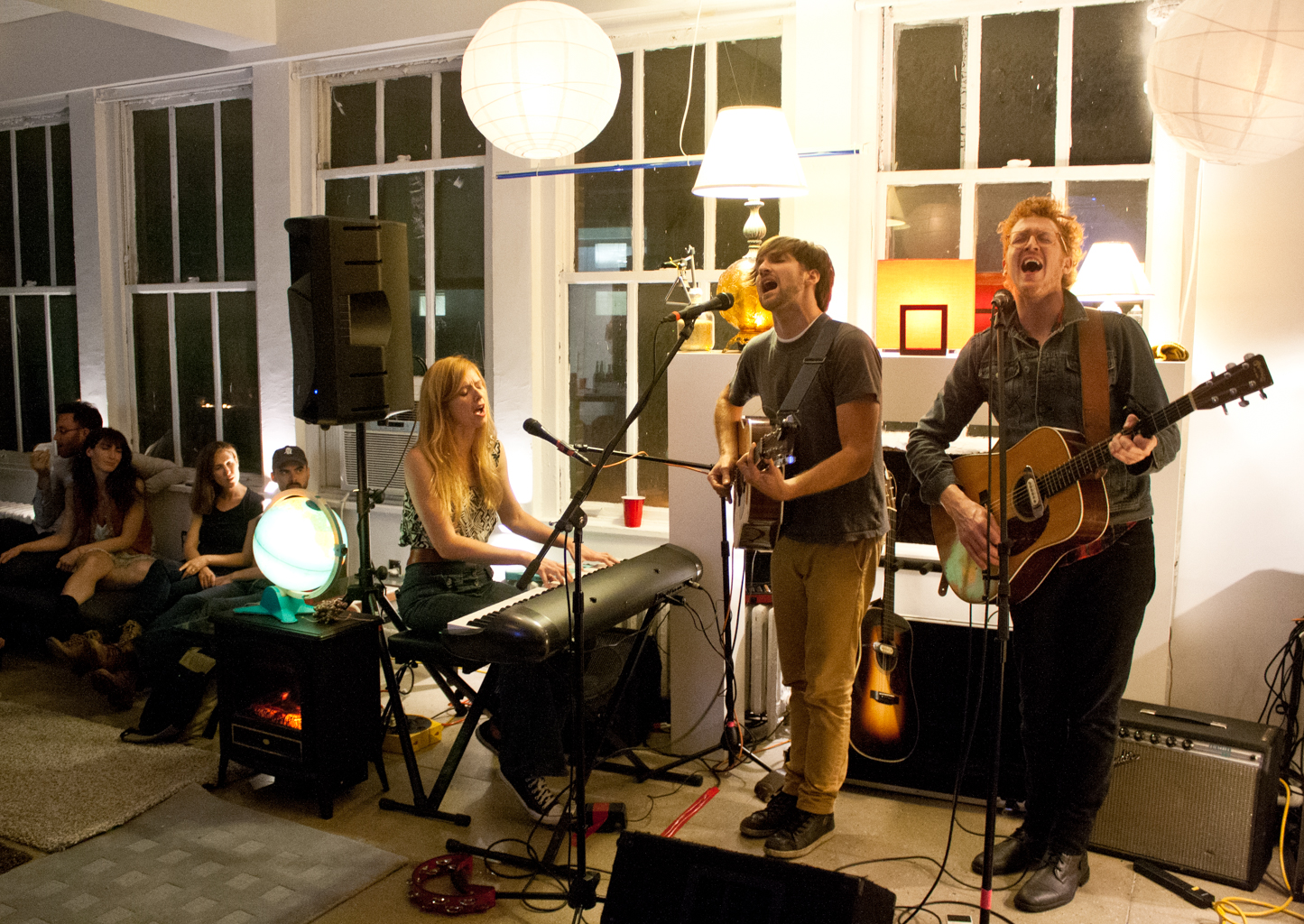 The Spring Standards, another local band I fell in love with, playing a living room show during CMJ 2013.