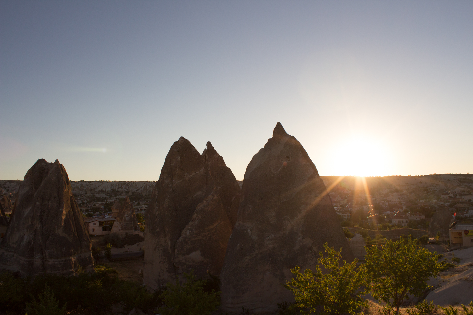 Cappadocia,an area in Central Turkey is known for it's weird shaped rocks and 'fairy chimneys'.