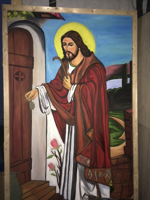 Jesus standing at the door. (Photo by A.F. Rowlands)