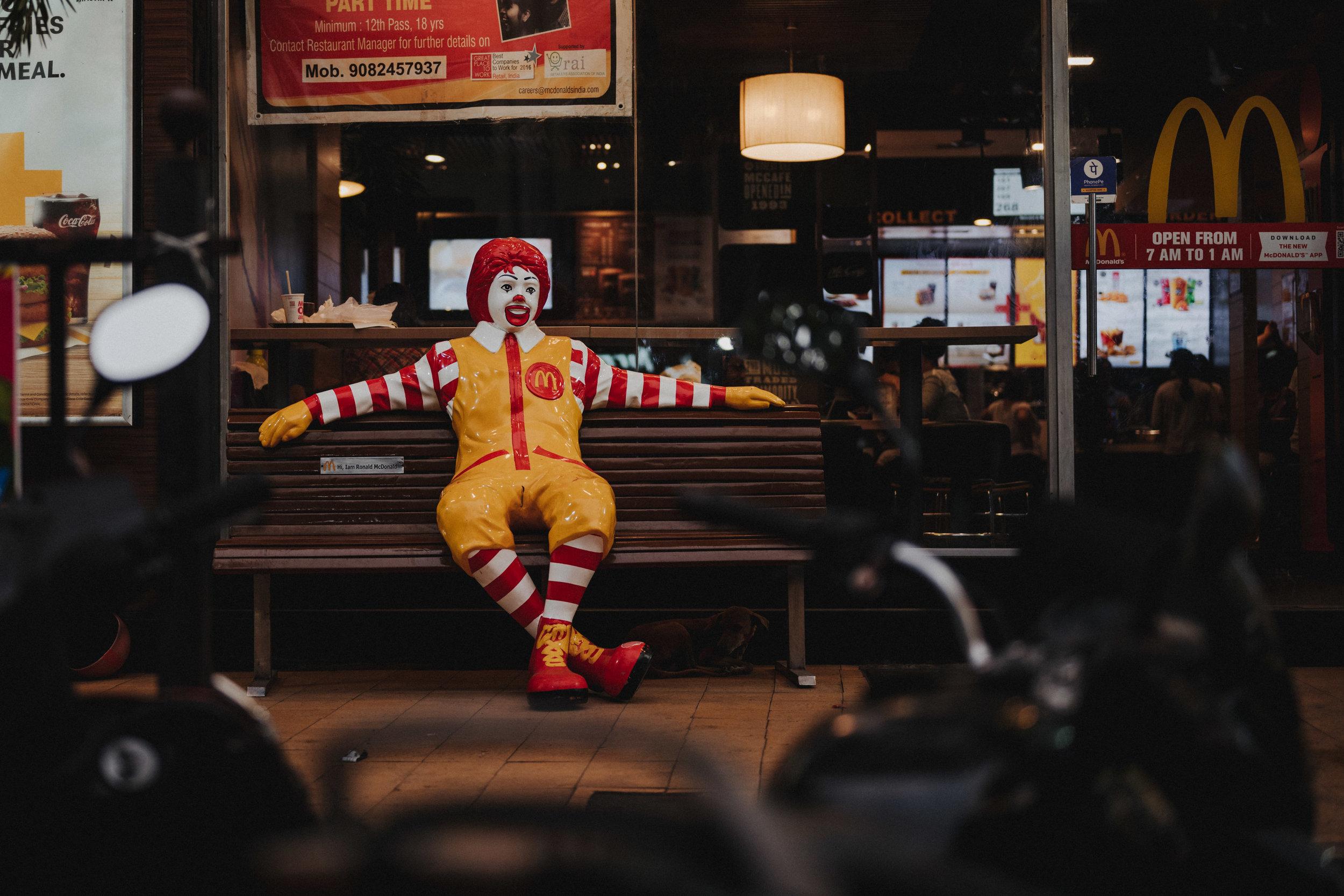 Fotoreportage Mumbai McDonalds in Indien