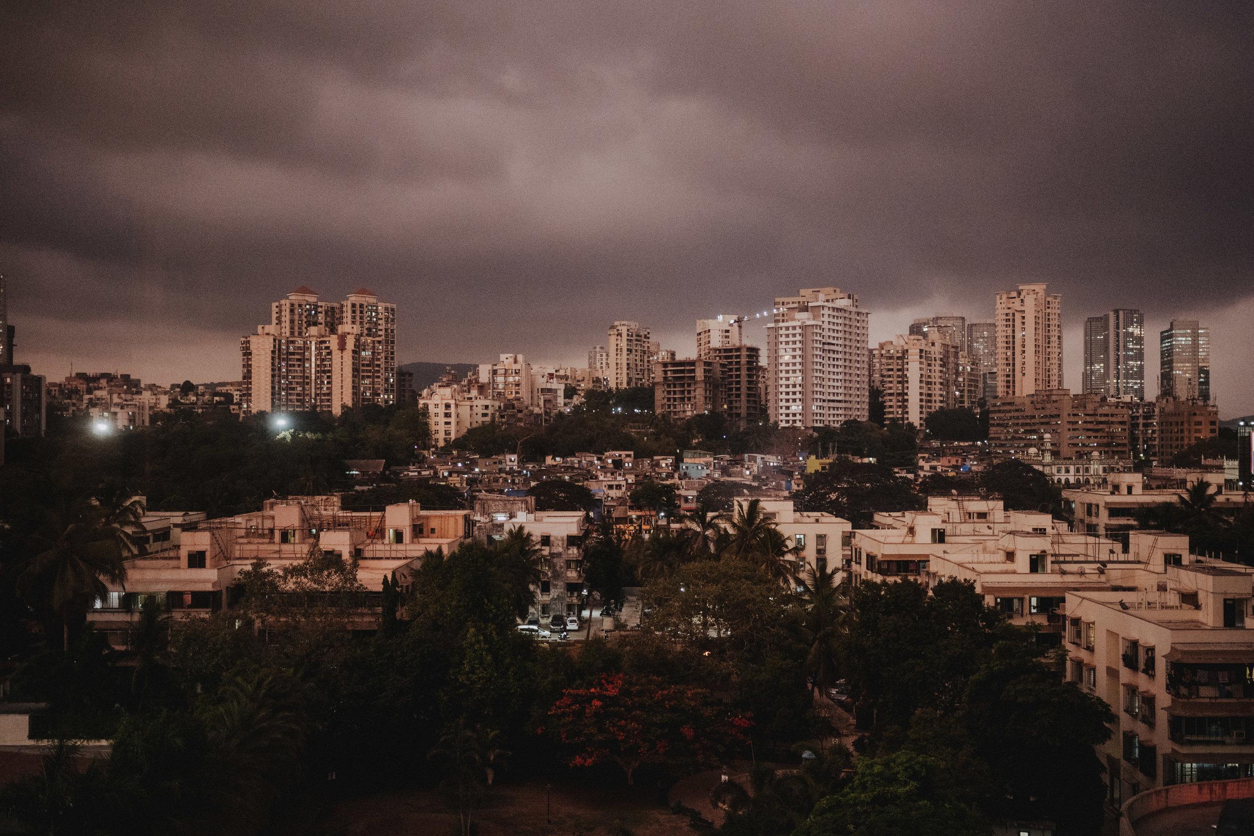 Foto von Mumbai kurz vor dem Monsun im Juni