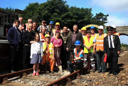 And on the left again at the opening of Trevarno station in 2010