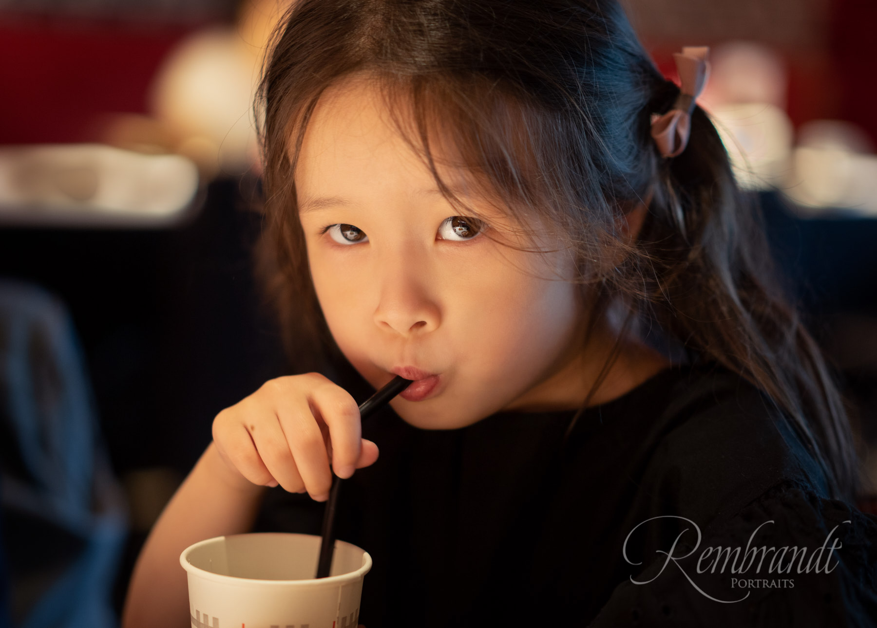f/1.8 can help you get nice clean shots in low light environments such as restaurants.