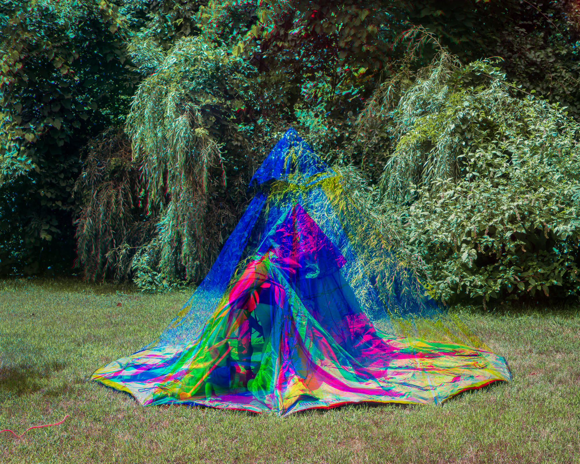 Setting Up Tent , 2015 Archival pigment print 24 x 30 in (60.96 x 76.2 cm)