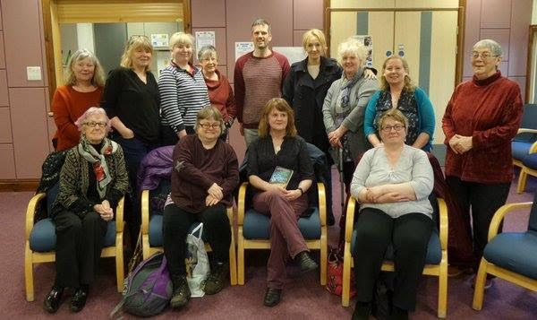 JK Rowling meets the members of the Saturday Slaughters Reading Group in Orkney Library, photograph by Stewart Bain