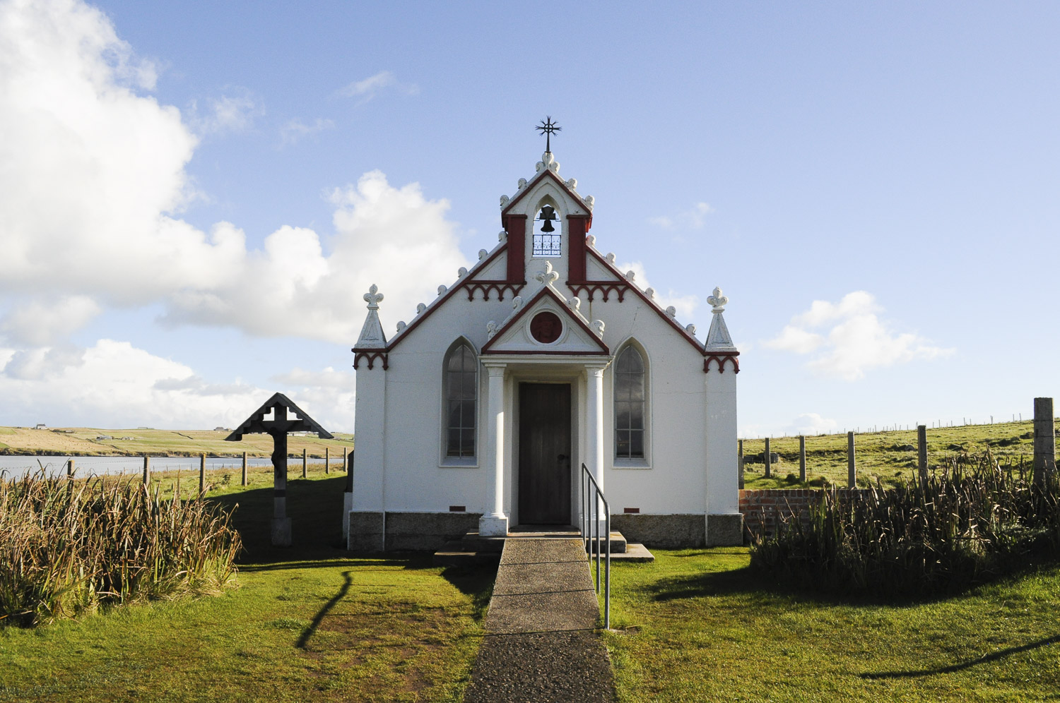 Italian Chapel, built from a Nissen hut