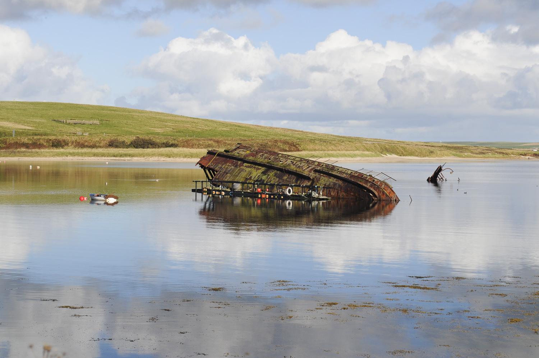 Blockship wreck, Orkney
