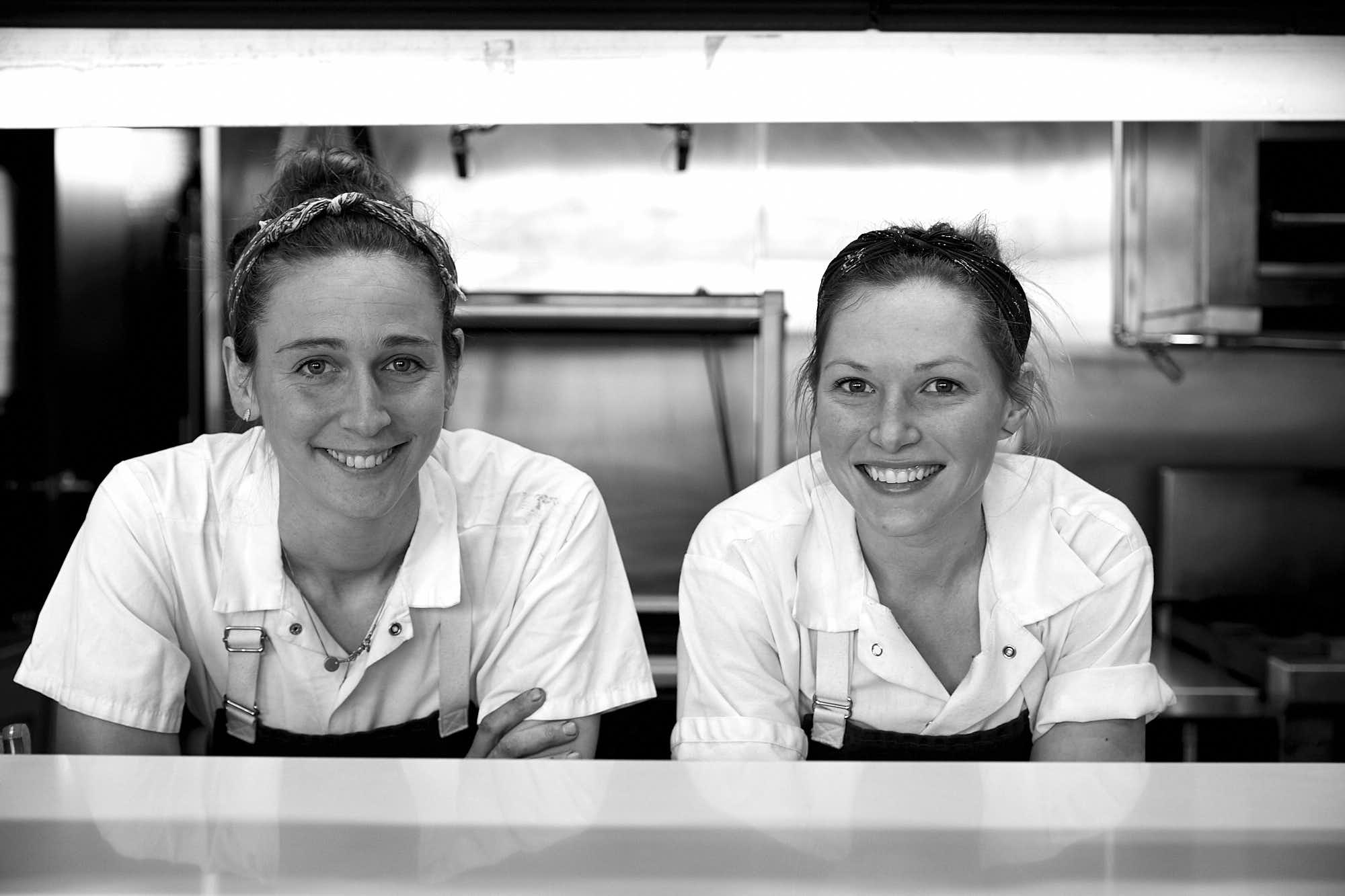 CAROLINE WITH CHELSEY MASCHHOFF, her SOUS CHEF AT ANNETTE