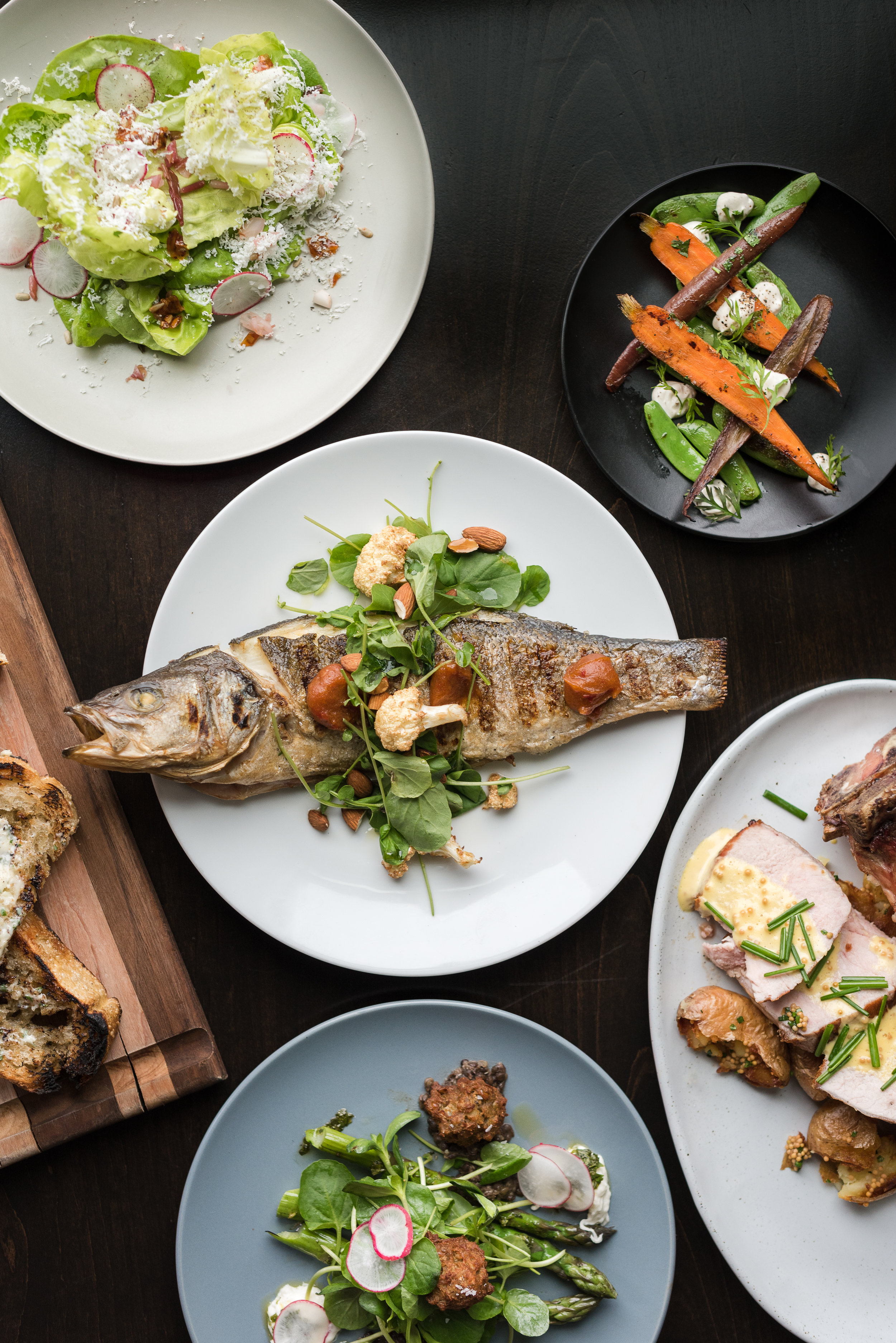 A selection of dishes from Annette's spring menu