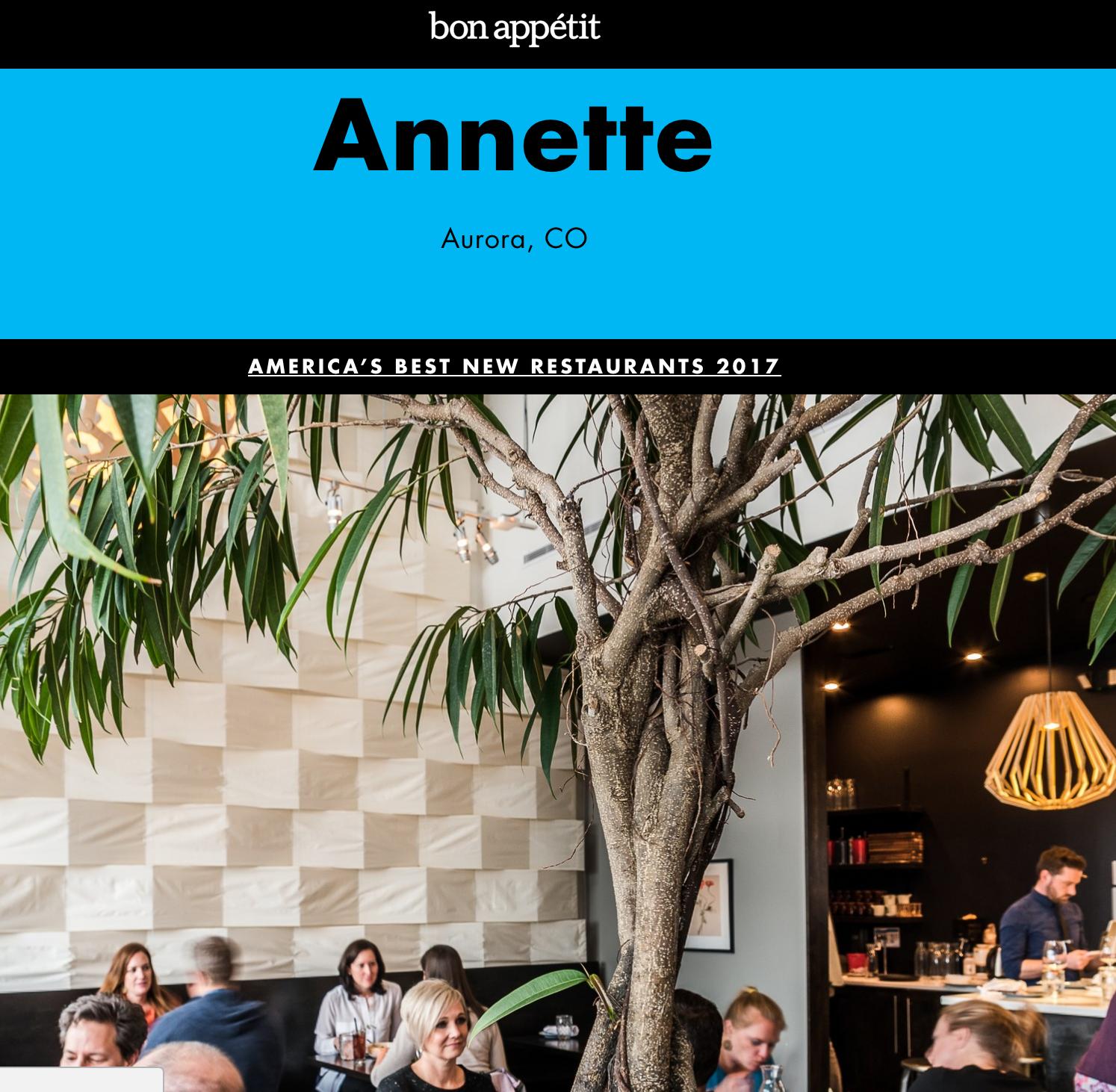 America's best new restaurants (Bon Appétit)