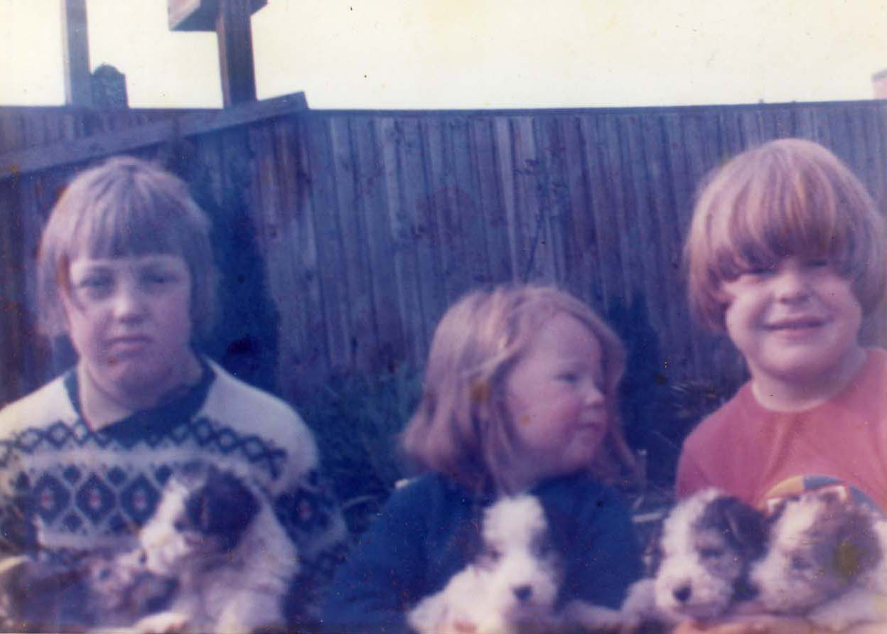 Me, on the left with sister Gail and brother Nicholas