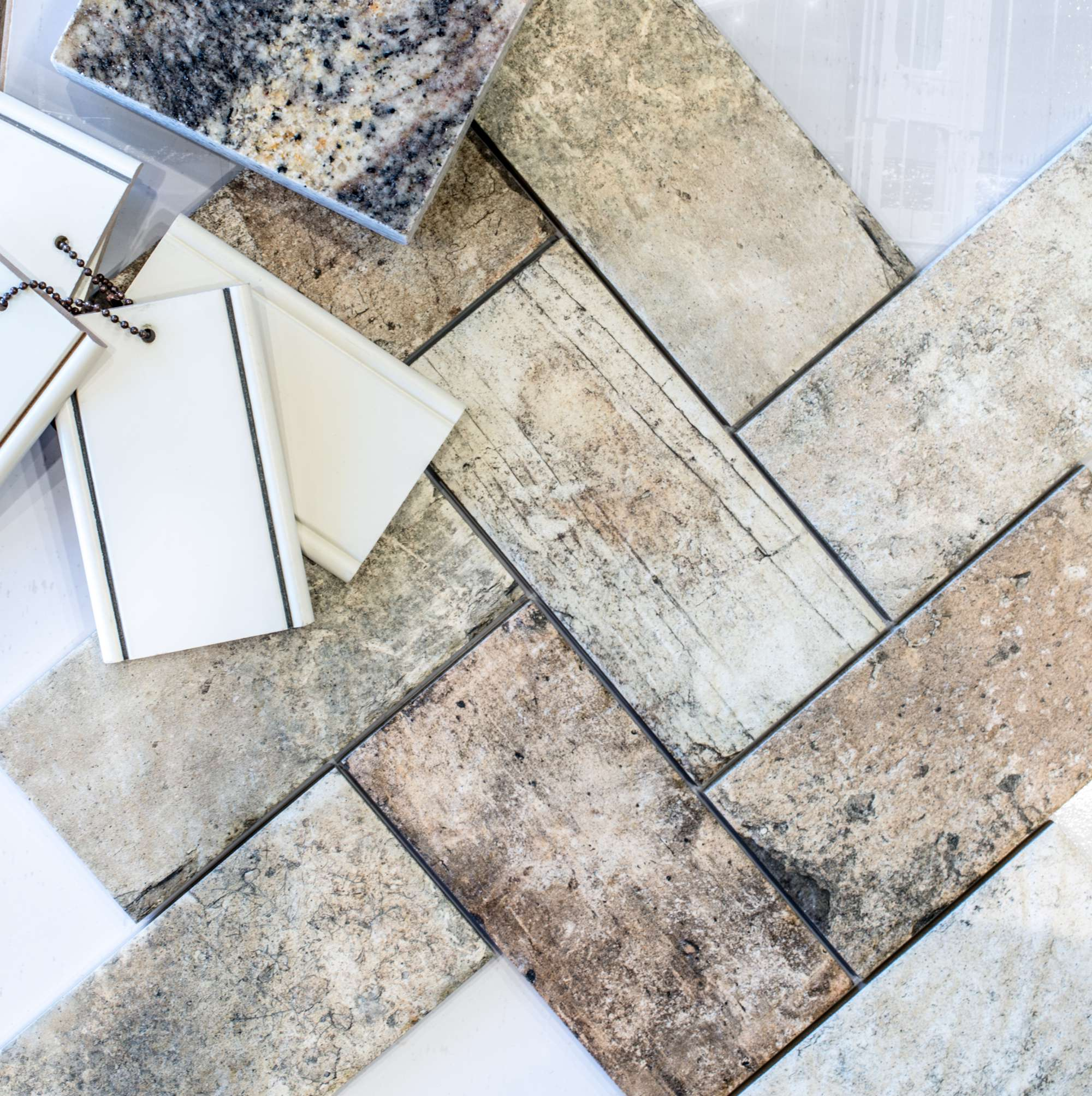 Decorative tile selection at Johnston Paint & Decorating