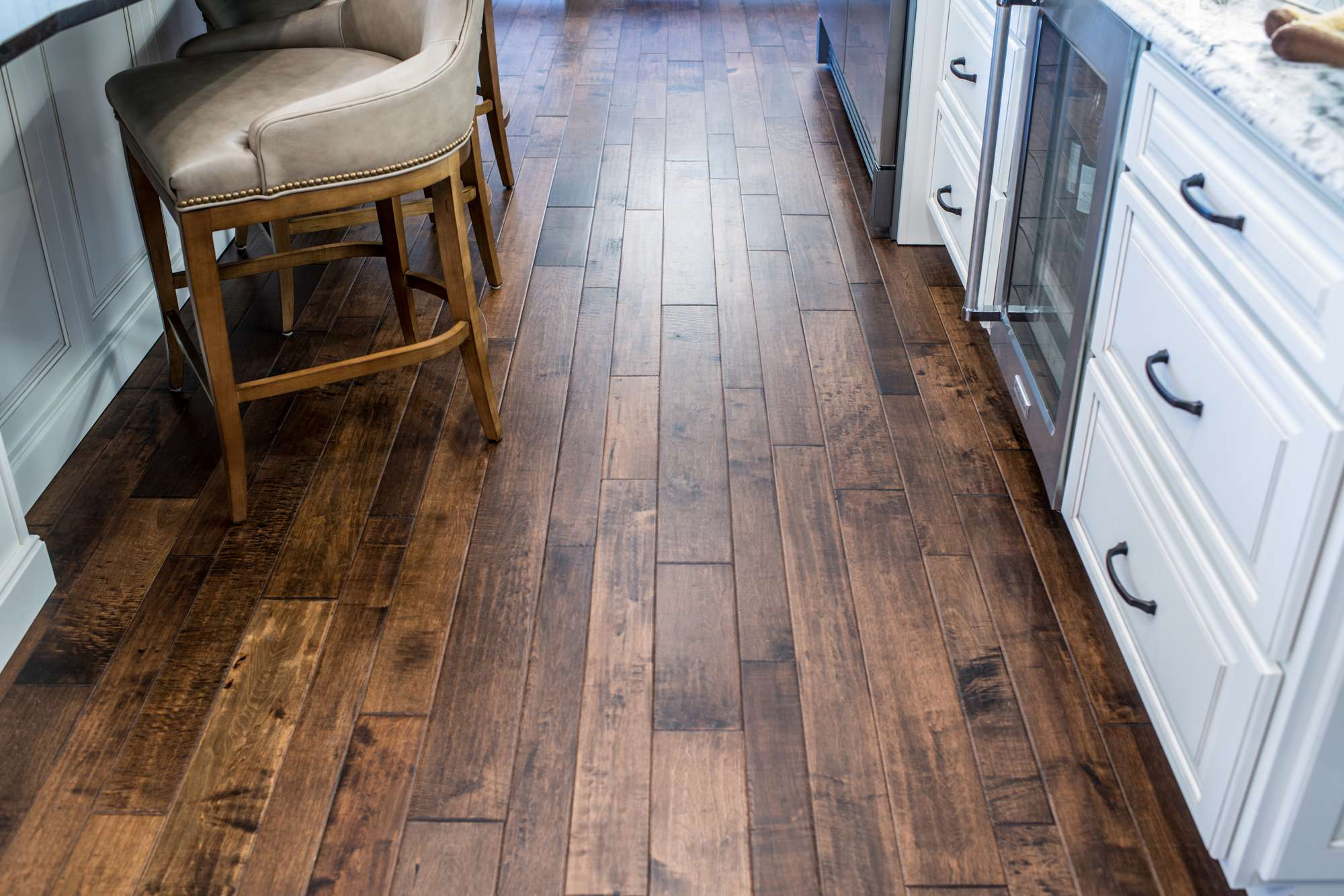 Hardwood flooring by Johnston Paint & Decorating in Columbia, MO.