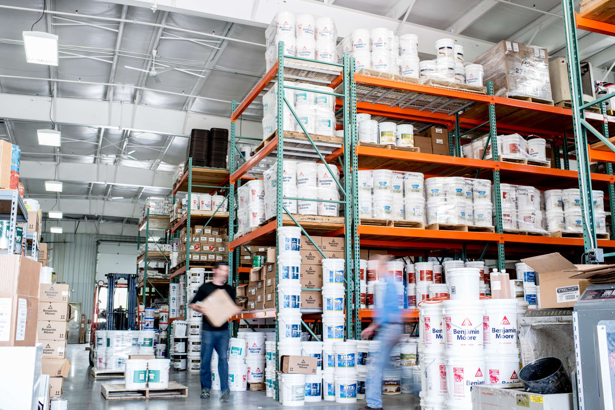 The Johnston Paint & Decorating warehouse