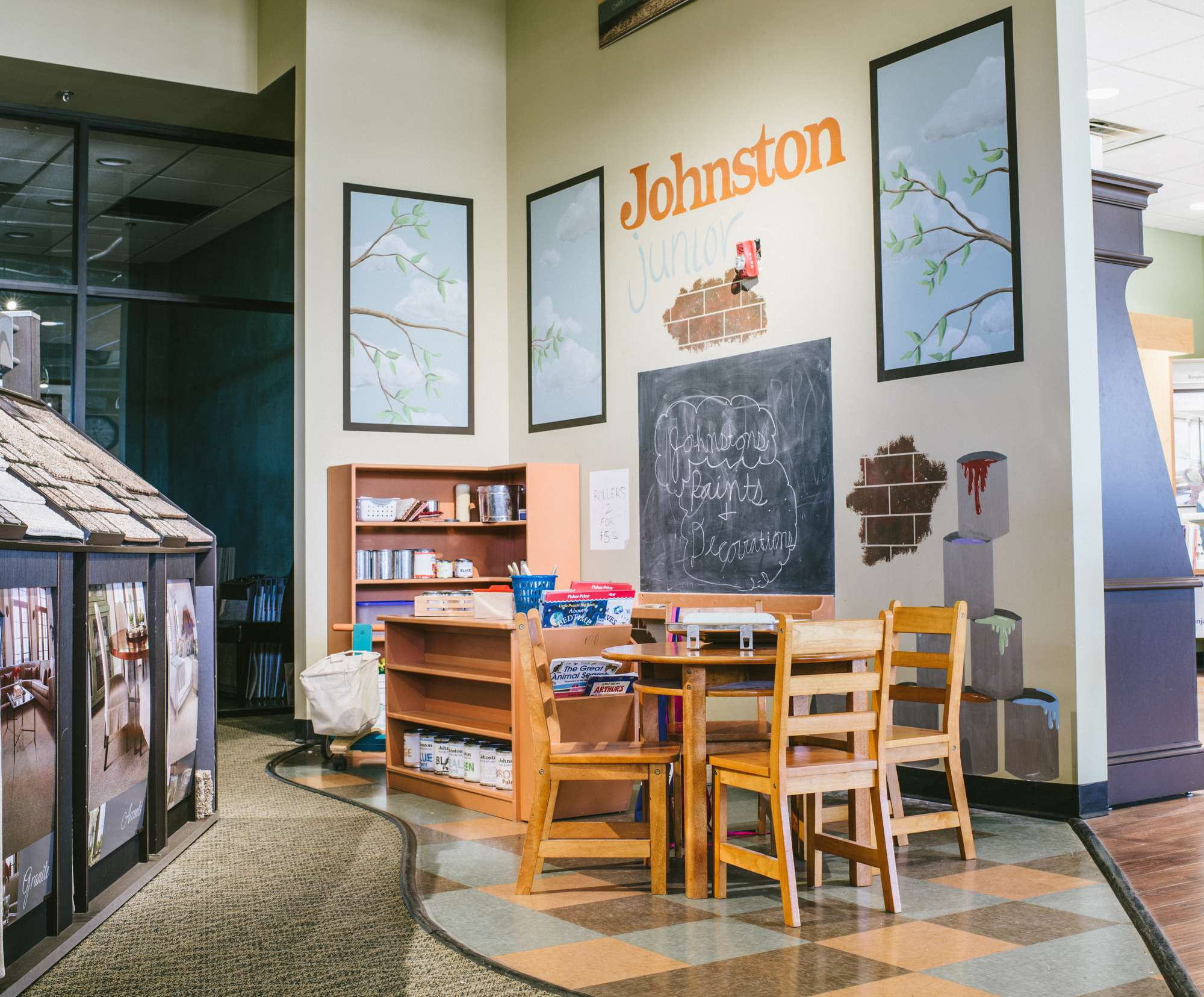 Kids' play area in our Columbia, MO showroom