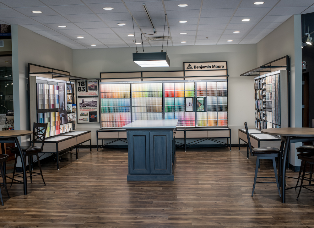 The new Benjamin Moore Store of the Future display at Johnston's.