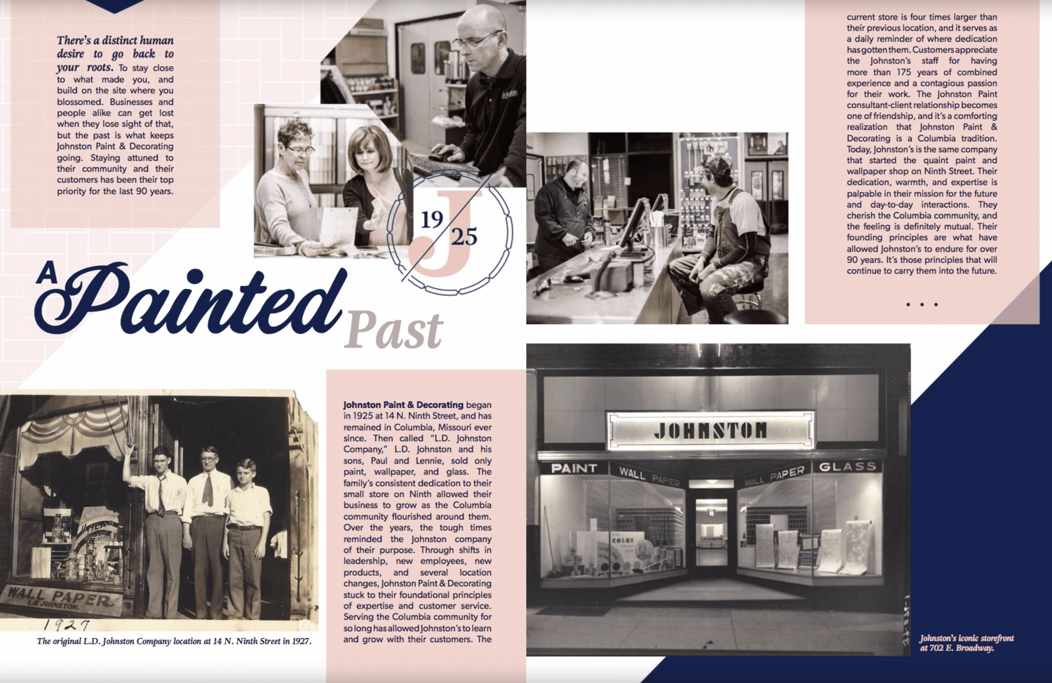 Johnston Paint & Decorating was recently featured in Gallon Magazine