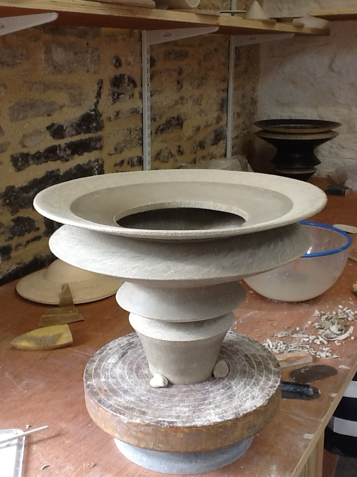 First Corseted Pot in my new studio. Finished and ready to fire. A huge milestone.