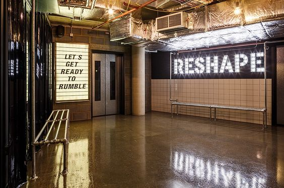 1Rebel - Full Body Reshape   Kitted out with treadmills and weights section,  Reshape transforms you into a 'Shaper' and 'Runner' to hit every muscle group going.   Imagery from Pinterest:http://bit.ly/2ekRJVT