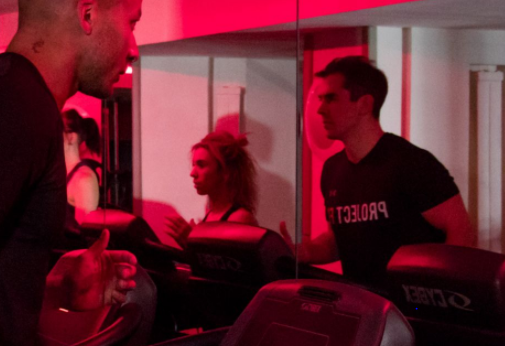 Project Fit - 50/50   Half the class on the treadmills, running intervals and half the class on the floor completing full body resistance exercises.  Project Fit  workouts are some of the toughest in London