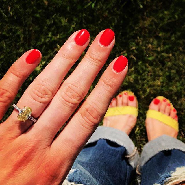When your shoes match your ring. #chicagojeweler #diamondconsultant #diamondring #yellowdiamond