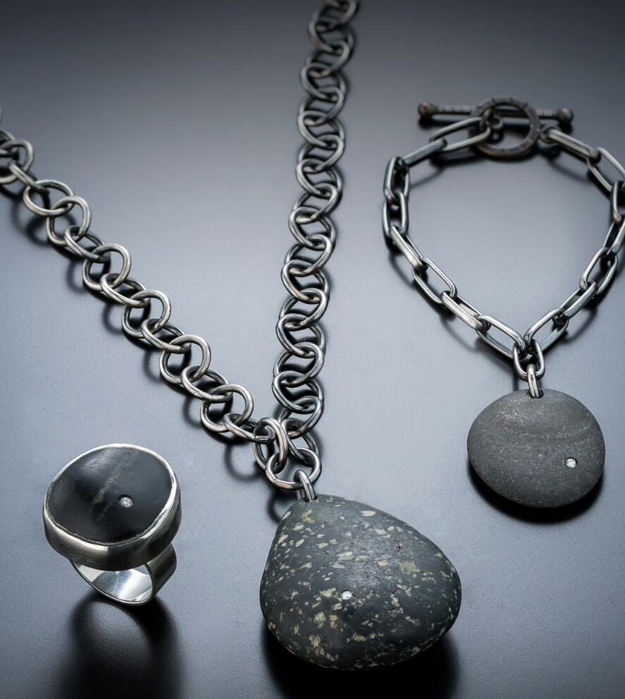 Igneous Rock Solid Jewelry by Lesley Hansard