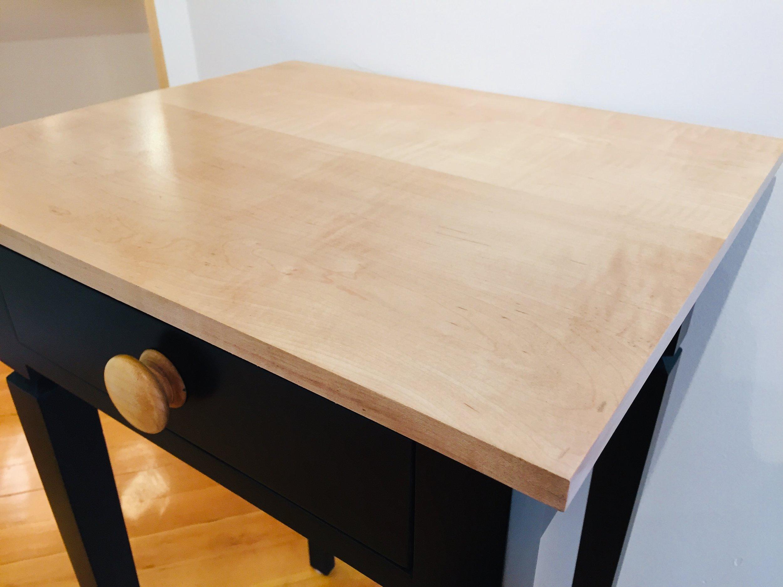 Ebonized Poplar Table $700 - Custom finishes available.