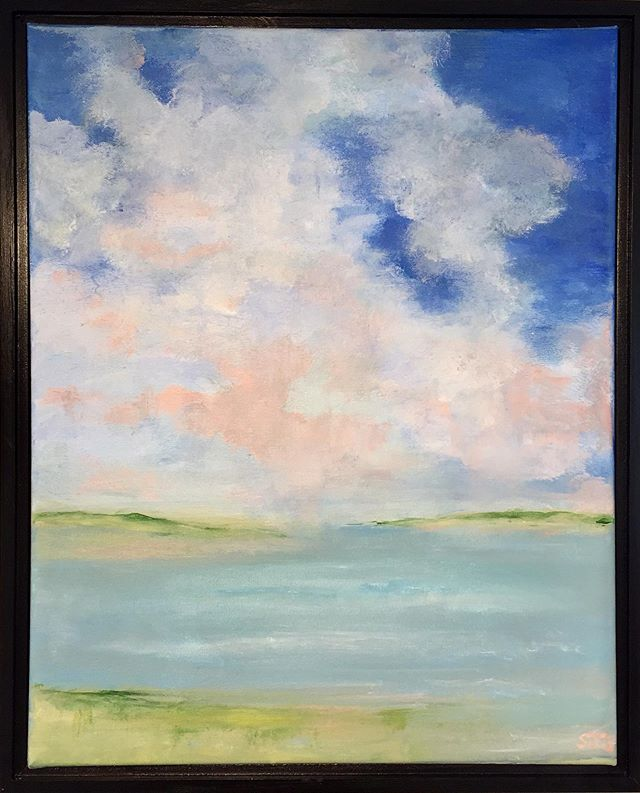 Summer Haze by Susan Superson #wellfleet #capecod #capecodlife #capecodpainting #wellfleetartgalleries #skypainting #cloudpainting