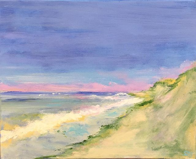 Currently showing Susan Superson #wellfleet #capecod #capecodart #sanddunes #wellfleetartgalleries #rachelkdelonggallerywellfleet