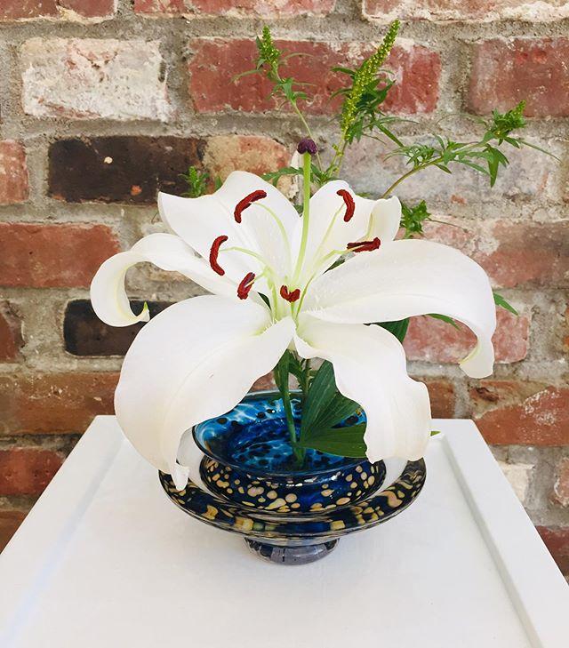 GartnerBlade Ikebana #wellfleet #capecod #americanartglass #ikebana #gartnerbladeartglass #rachelkdelonggallerywellfleet