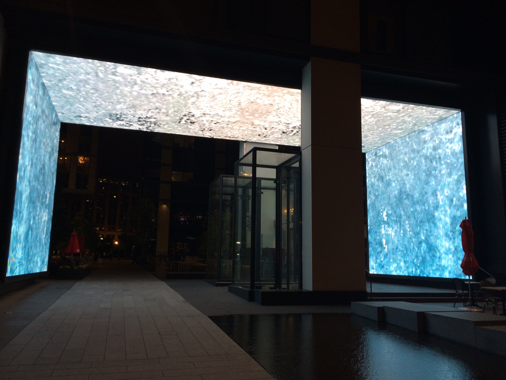 Flowing Water –The first  spotted avatar of the Gateway at CityCenterDC, Washington DC.