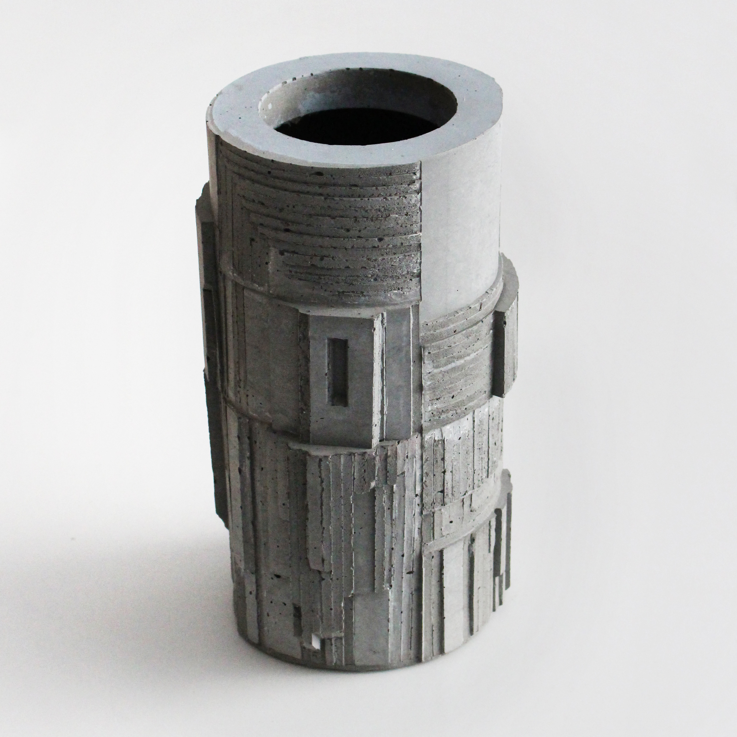 Brutalist Concrete Vase, by David Umemoto. Scroll down to see it's many stages of fabrication.