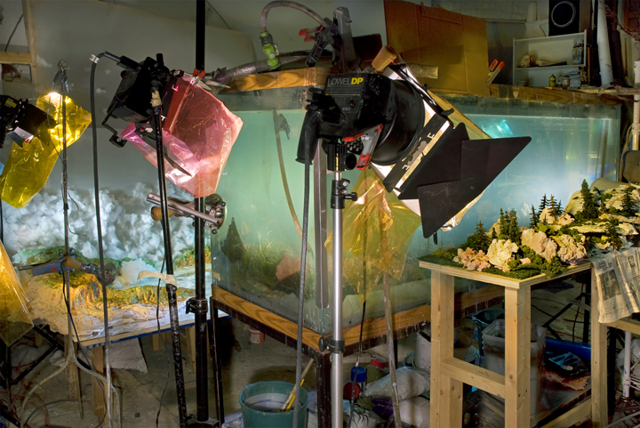 4448 Studio view for West 104k, 2009,by Kim Keever.