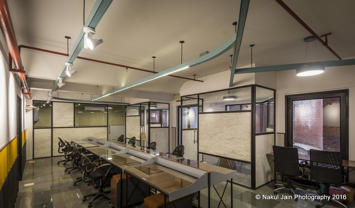 Office in Hauz Khas by Harsh Vardhan Jain Architects and Co.Lab Design, Photography by Nakul Jain