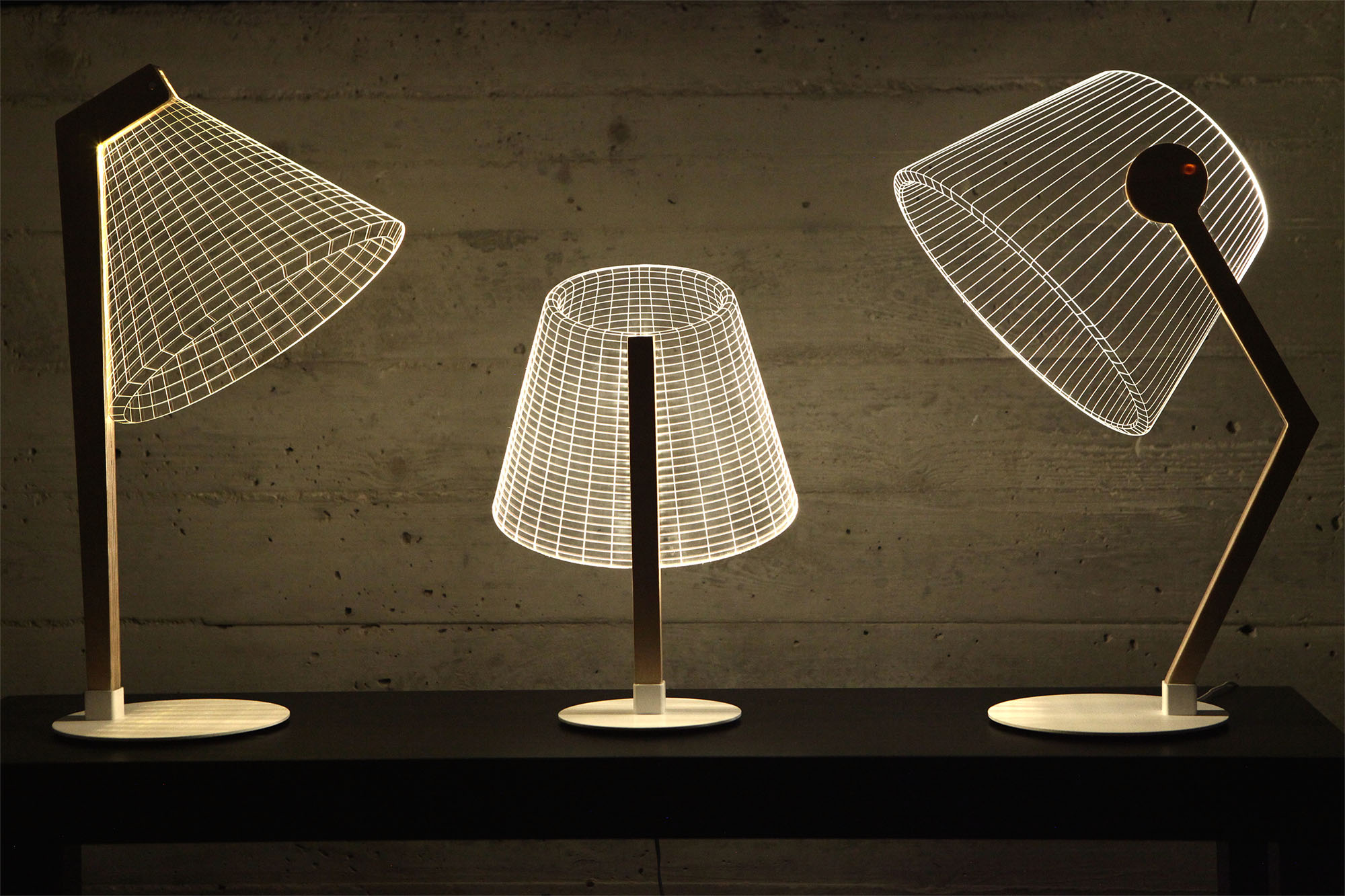 The ZIGGi, DESKi and CLASSi form the new ByBulbing Collection from Studio Cheha