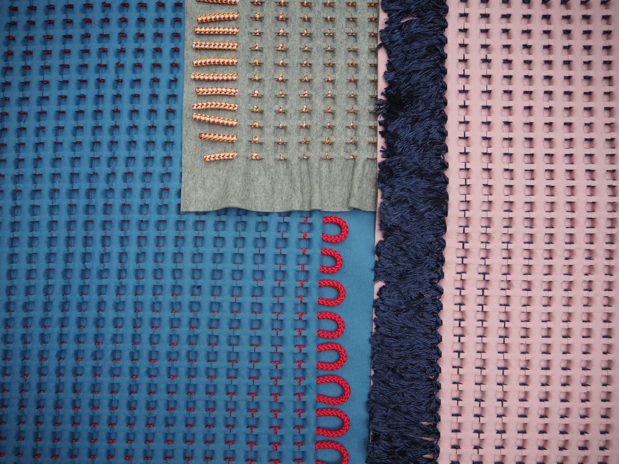Acoustic Landscapes,  a collection of Structured textiles from Robin Pleun Maas