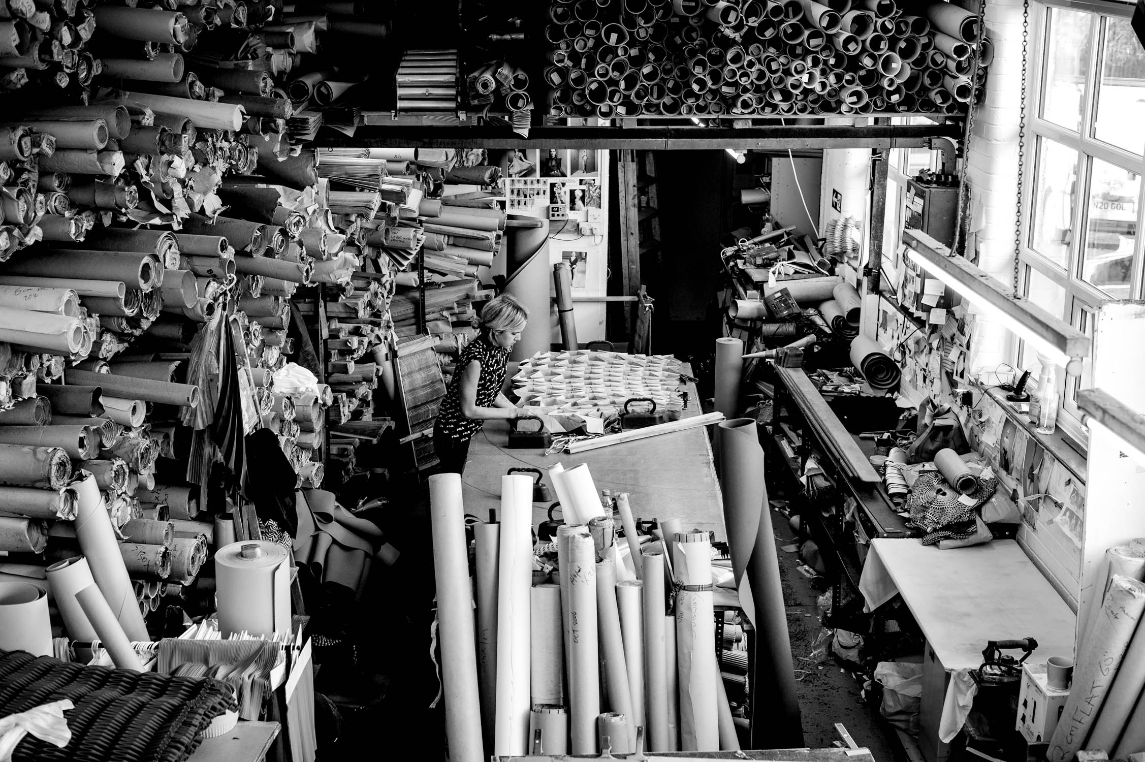 Jule Waibel in her studio, Unfolding materials and objects