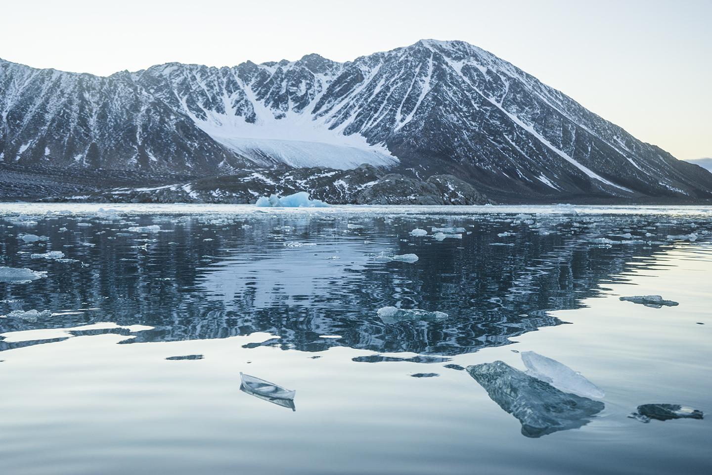 Ice Boat at Smeerenburgbreen 1 , 2015. Archival ink jet print. Source: Joshua Abarbanel