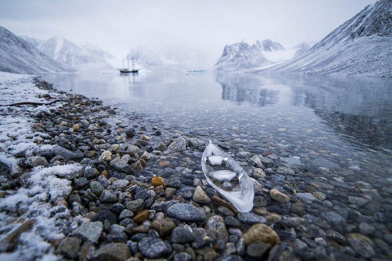 Ice Boat and Antigua in Gravneset,  2015. Archival ink jet print. Source: Joshua Abarbanel