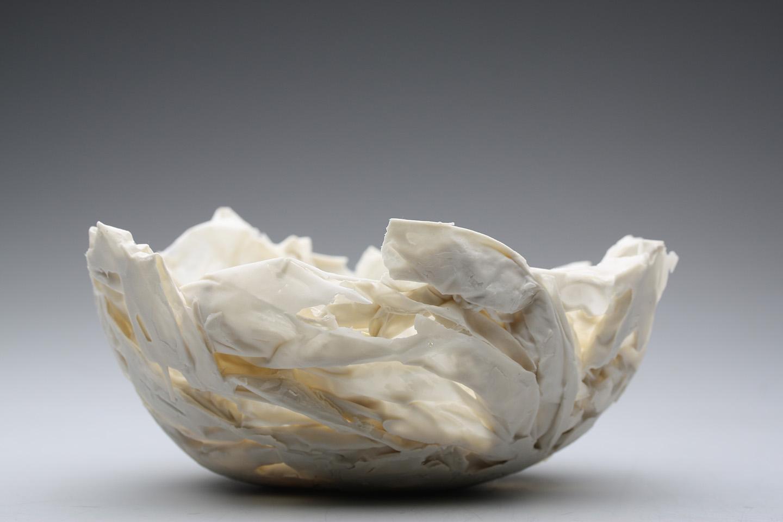 Porcelain vessel by Manos Kalamenios