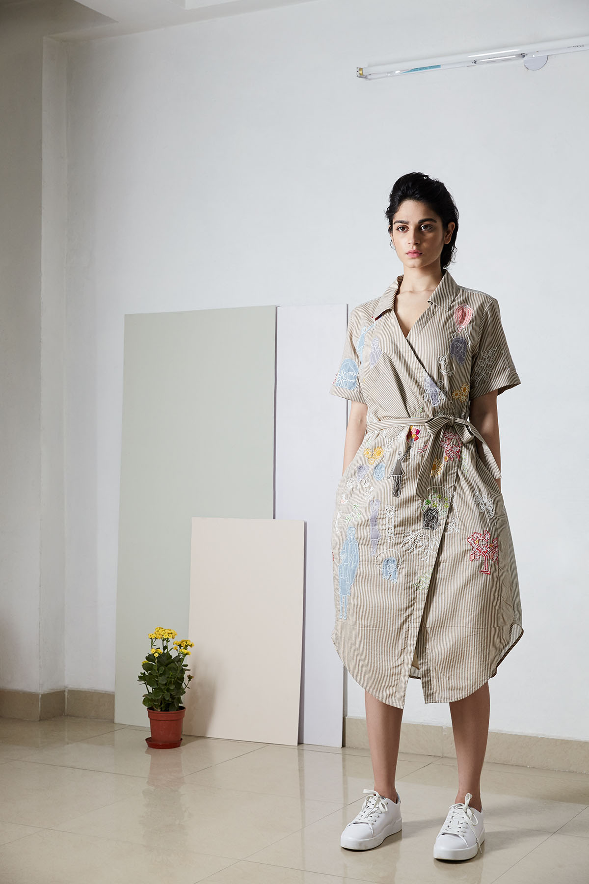 A wrapped dress/coat from  Doodlage's  new SS'17 collection
