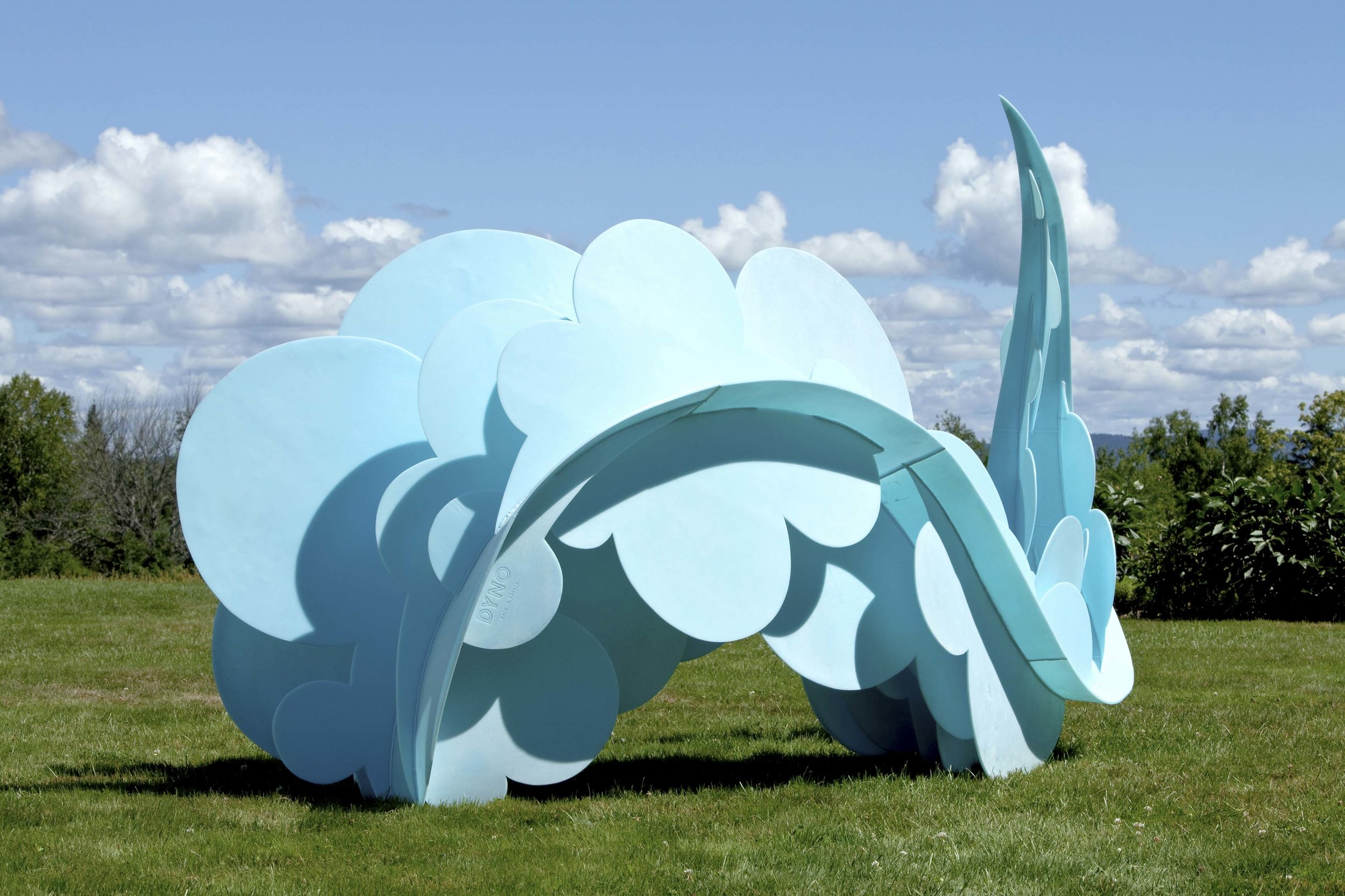 Damaged, discarded plastic crates are transformed into Aurora Robson's beautiful and robust outdoor installation   Dyno.
