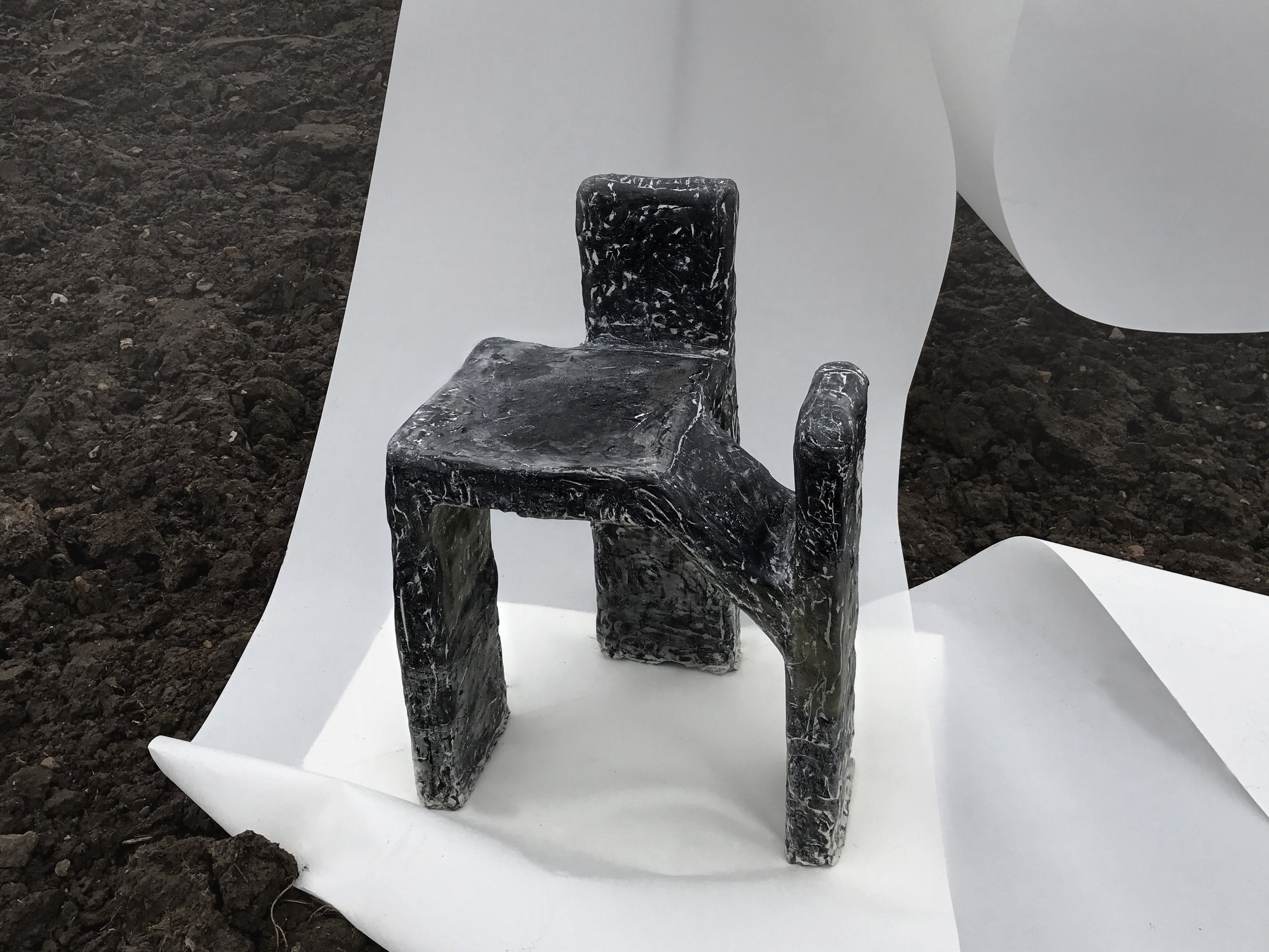 Three-Pillar Seat   by Ida Elke, created for the  Age of Man  exhibition, Milan Design Week 2017